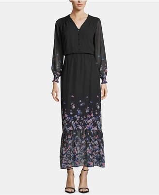2545a00a6a7 ECI Floral-Print-Border Maxi Dress