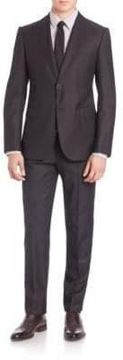 Giorgio Armani Peak Lapel Wool Suit