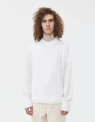 Our Legacy Smooth Cable Roundneck Sweater