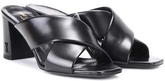Saint Laurent Loulou 70 leather sandals