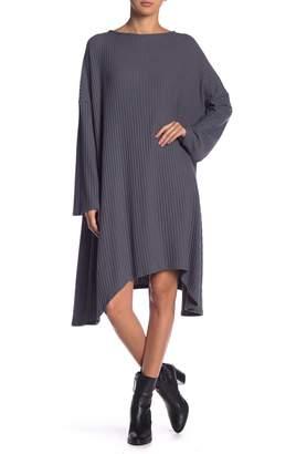 Couture Go Rib Knit Sharkbite Dress