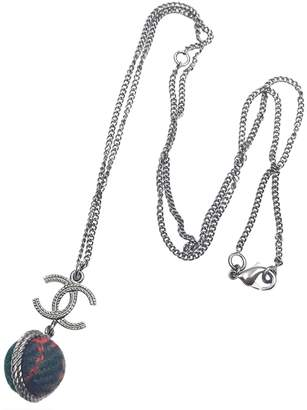 Chanel Grey Metal Necklace