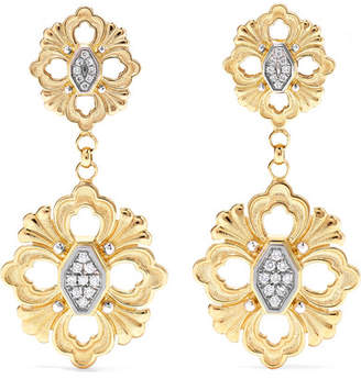 Buccellati Opera 18-karat Yellow And White Gold Diamond Earrings