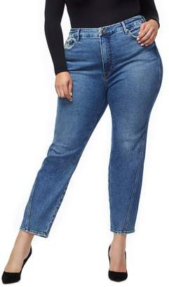 Good American Good Straight Twisted Seam Jeans - Blue214