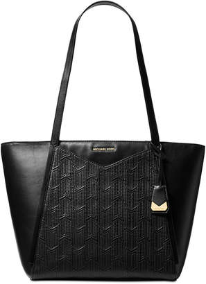 Michael Kors Whitney Quilted Detail Top Zip Tote