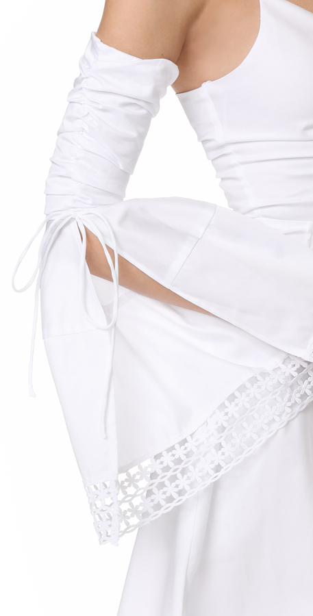 Nicholas N Gathered Bell Sleeve Dress