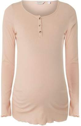 Dorothy Perkins Womens **Maternity Pink Long Sleeve Button Top