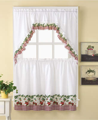 "CHF Apple Blossom 36"" Window Tier & Swag Valance Set"