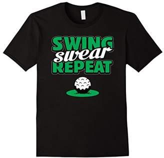 Swing Swear Repeat Funny Golf T-shirt