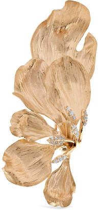 OLE LYNGGAARD COPENHAGEN - Wild Rose 18-karat Gold Diamond Clip Earring