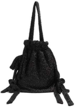Simone Rocha Lurex Shoulder Bag - Womens - Black