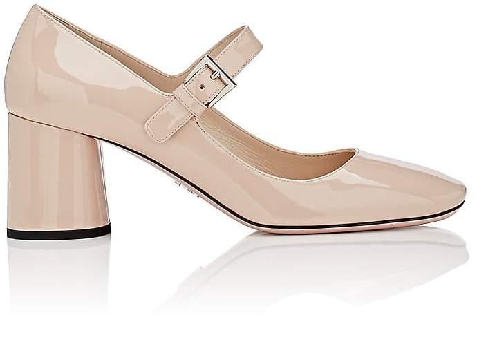 Prada Women's Patent Leather Mary Jane Pumps