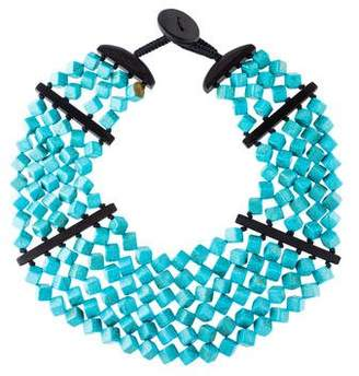 Viktoria Hayman Dyed Howlite Cube Drape Necklace