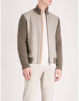 Corneliani Colour-blocked cashmere bomber jacket