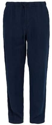 Onia Carter Linen Trousers - Mens - Navy
