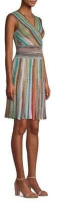 Missoni Stripe-Knit Fit-and-Flare Dress