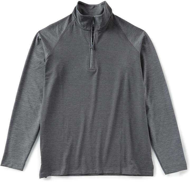 Bobby Jones Raglan Stripe Quarter-Zip Pullover
