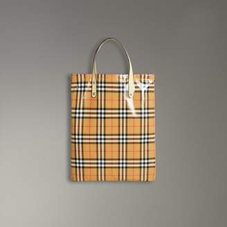 9f9875e128cd Free Standard Shipping at Burberry · Burberry Medium Coated Vintage Check  Shopper