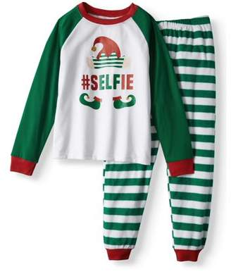 Family Pjs Holiday Elf Selfie Pajamas, 2-piece Set (Little Boys & Big Boys)