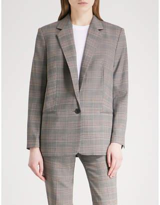 BA&SH Glean Prince of Wales checked woven jacket