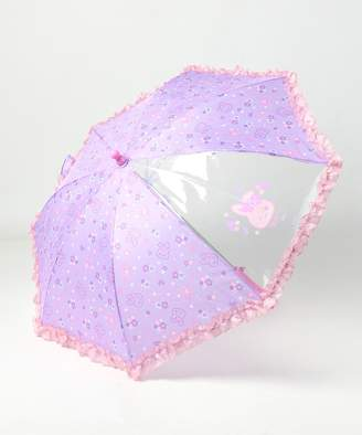 Mother garden うさもも 傘 かさ お花畑柄 長さ40cm(C)FDB