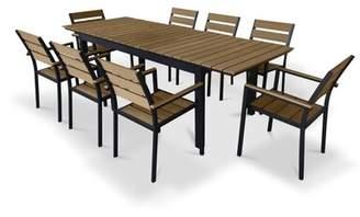 Urban Furnishings 9 Piece Extendable Outdoor Dining Set Urban Furnishings