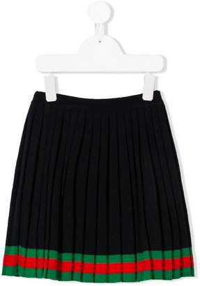 Gucci Kids pleated skirt with Web