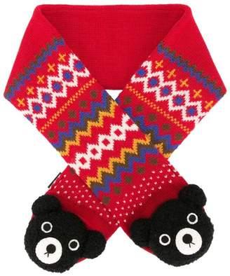 Mikihouse Miki House teddy bear scarf