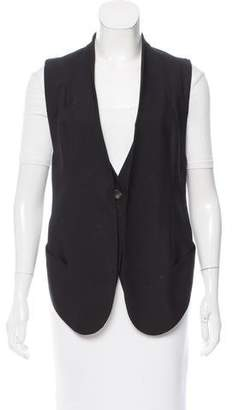 Helmut Lang High-Low Wool Vest