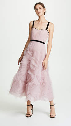 Marchesa Sleeveless Textured Tulle Gown