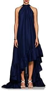 Azeeza Women's Plath Silk High-Low Dress - Navy