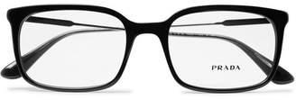 Prada Square-Frame Acetate And Gunmetal-Tone Optical Glasses