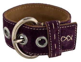pradaPrada Suede Buckle Cuff Bracelet