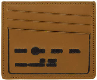 Maison Margiela Brown Debossed Card Holder