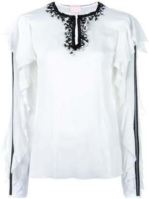 Giamba ruffle sleeve blouse