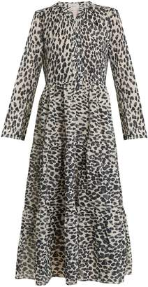 ON THE ISLAND Skala animal-print cotton dress