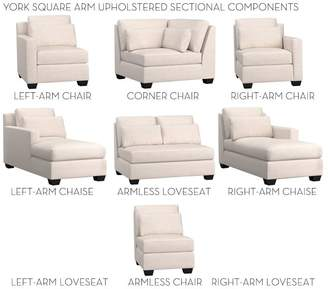 Pottery Barn York Square Arm Deep Seat Upholstered Build Your Own Components