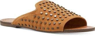 Jessica Simpson Kloe Nailhead Flat Slide Sandals $79 thestylecure.com