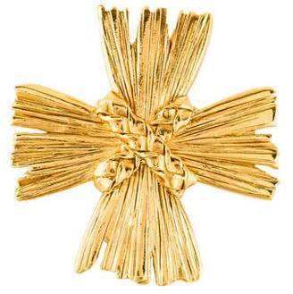 Saint Laurent Maltese Cross Convertible Brooch