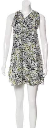 Proenza Schouler Silk Floral Print Dress