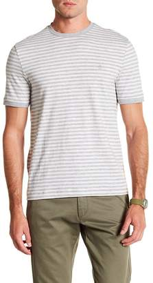 Original Penguin Short Sleeve Slub Feeder Stripe Print Tee