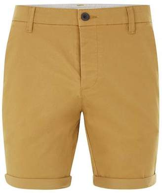 Topman Mens Mustard Stretch Skinny Chino Shorts