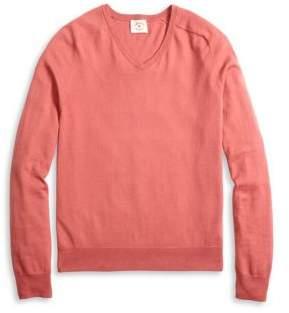 Brooks Brothers Red Fleece V-Neck Cashmere-Blend Sweater