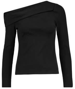 Rag & Bone Carmen One-Shoulder Ribbed Jersey Top