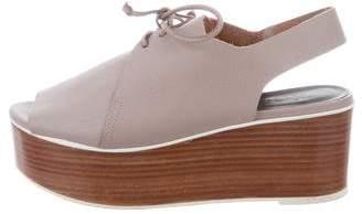 Tibi Flatform Leather Sandals