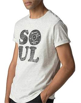 Ben Sherman Soul Text T-Shirt Off White