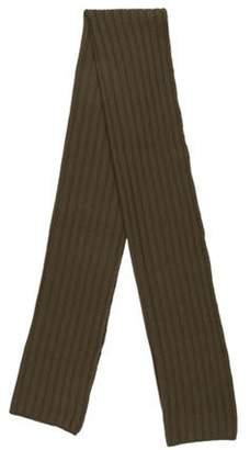 John Varvatos Wool & Cashmere Rib Knit Scarf olive Wool & Cashmere Rib Knit Scarf