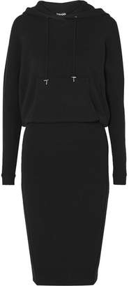 Tom Ford Hooded Ribbed Cashmere-blend Dress - Black
