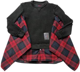 DSQUARED2 Inside-Out Flannel & Cotton Sweatshirt