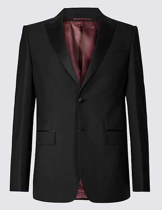 Marks and Spencer Black Regular Fit Wool Jacket